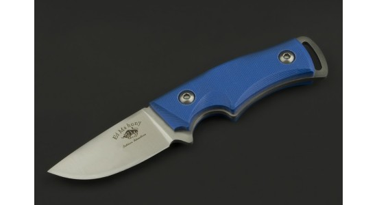 Ed Mahony Skywalk Neck Knife Taschenmesser Blue-G10, D2 Stahl