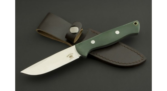 ED MAHONY Pathfinder, Jagdmesser, G10 mit Irish-Moss-farbenem Griff, 440C