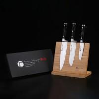 IZUMI ICHIAGO 3-tlg. Profi-Kochmesser-Set aus feinstem japanischem Damaststahl auf hochfestem VG-10-High-Carbon-Stahlkern