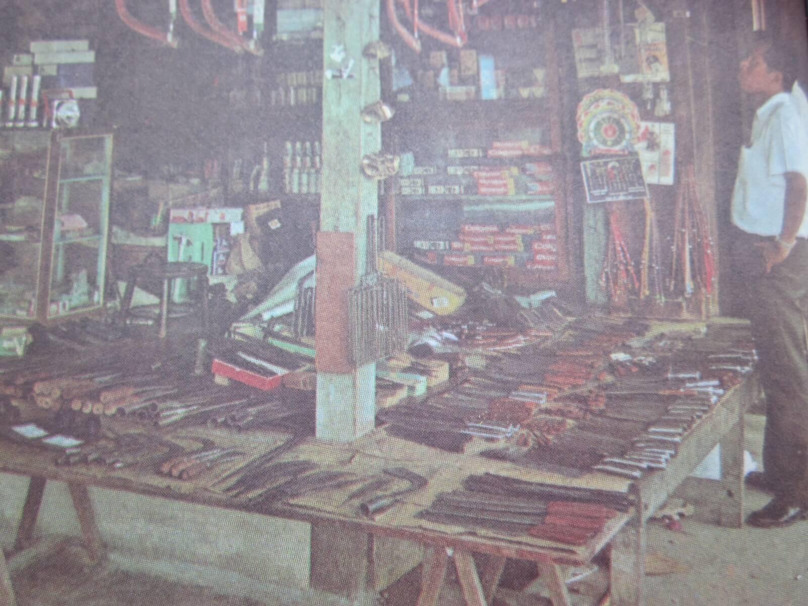 Ein Verkaufsstand im Markt von Bangkok